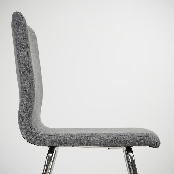 VOLFGANG Barstol, forkrommet/Gunnared mellomgrå, 67 cm