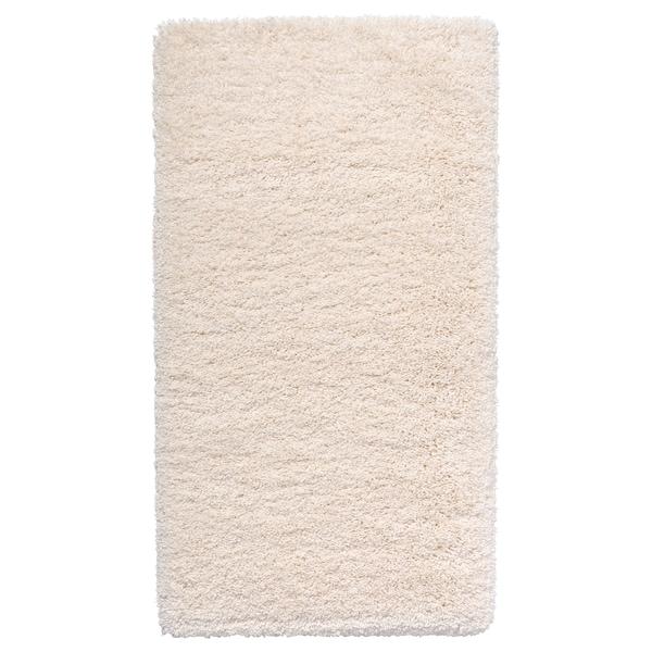 VOLLERSLEV Teppe, lang lugg, hvit, 80x150 cm