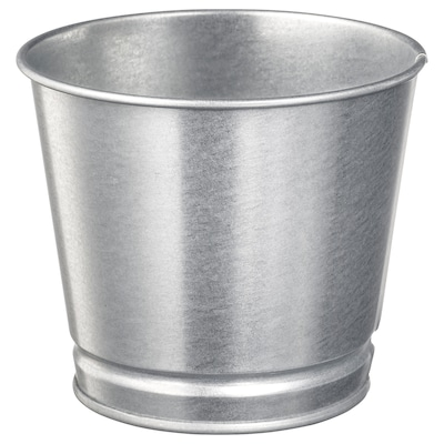 BINTJE Plant pot, galvanized, 9 cm