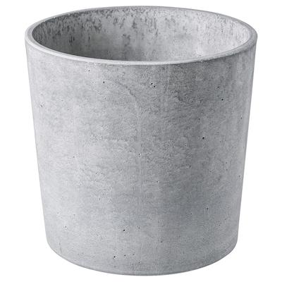 BOYSENBÄR Plant pot, indoor/outdoor light gray, 19 cm
