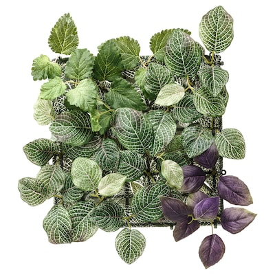 FEJKA Artificial plant, wall mounted/indoor/outdoor green/lilac, 26x26 cm