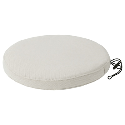 FRÖSÖN Cover for chair pad, outdoor beige, 35 cm