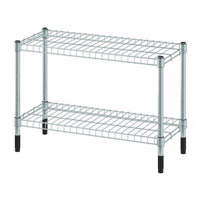 OMAR Shelf unit, galvanized, 60x25x40 cm