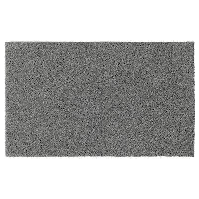 OPLEV Door mat, indoor/outdoor gray, 50x80 cm