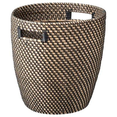 RÅGKORN Plant pot, indoor/outdoor natural, 32 cm