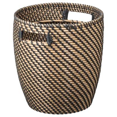 RÅGKORN Plant pot, indoor/outdoor natural, 24 cm