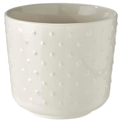 SESAMFRÖN Plant pot, indoor/outdoor off-white, 12 cm