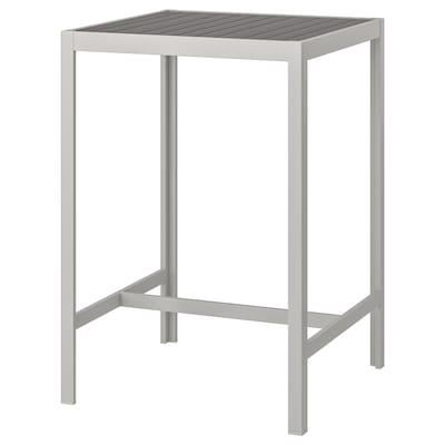 SJÄLLAND Bar table, outdoor, dark gray/light gray, 71x71x103 cm