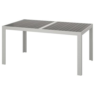 SJÄLLAND Table, outdoor, dark gray/light gray, 156x90 cm