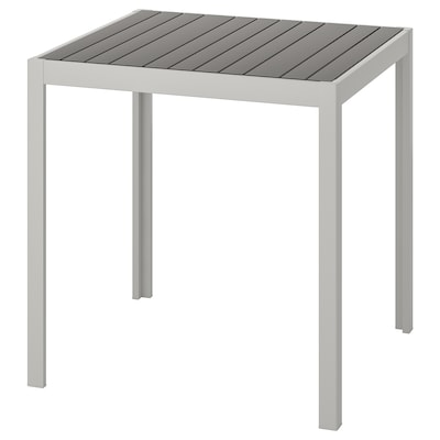 SJÄLLAND Table, outdoor, dark gray/light gray, 71x71x73 cm