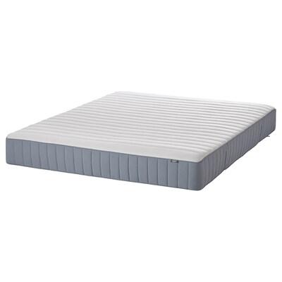 VALEVÅG Pocket spring mattress, extra firm/light blue, 150x200 cm