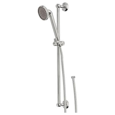 VOXNAN Riser rail with hand shower kit, chrome plated