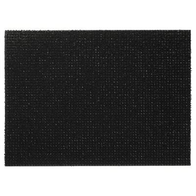 YDBY Door mat, indoor/outdoor black, 58x79 cm