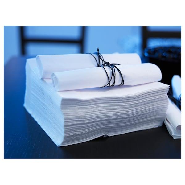FANTASTISK Serviettes en papier, blanc, 40x40 cm