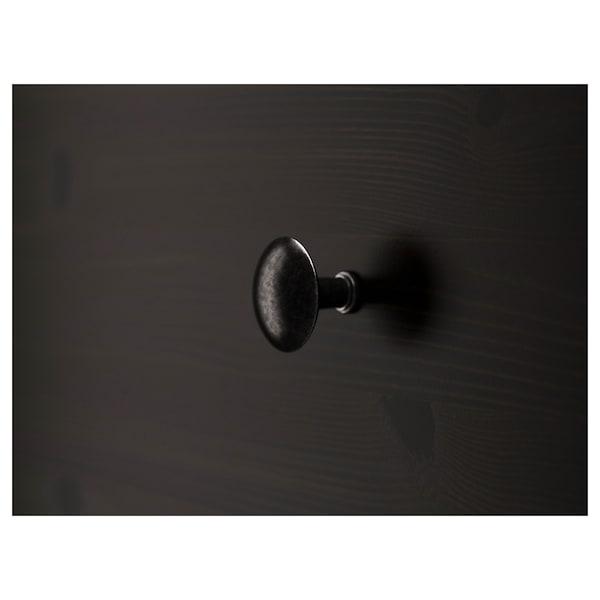 HEMNES Commode 8 tiroirs, brun noir, 160x96 cm
