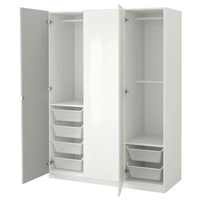 PAX Armoire-penderie, blanc/Fardal Vikedal, 150x60x201 cm