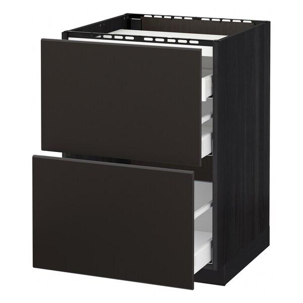 METOD / MAXIMERA Élément bas table cuisson/2fcs/3tir