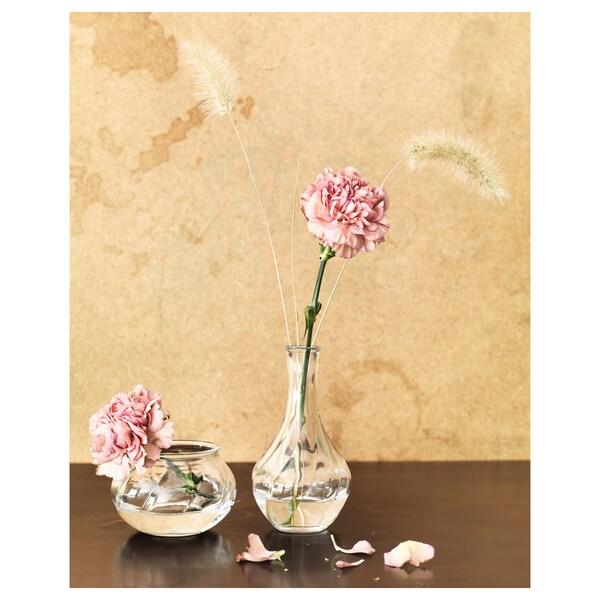 VILJESTARK Vase, verre transparent, 8 cm