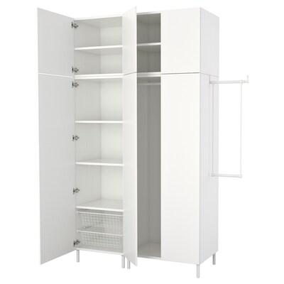 PLATSA Armoire-penderie, blanc/Fonnes blanc, 175-200x57x251 cm