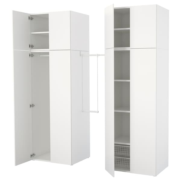 Platsa Armoire Penderie Blanc Fonnes Blanc Ikea