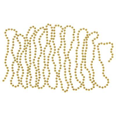 VINTER 2020 Guirlande, perles couleur or, 5 m