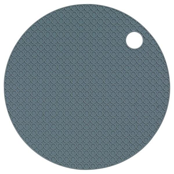 OMTÄNKSAM Ouvre-bocal, gris bleu, 15 cm