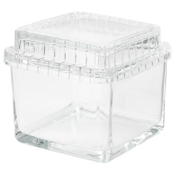 SAMMANHANG Boîte d'exposition avec couvercle, verre transparent, 13x13x12 cm