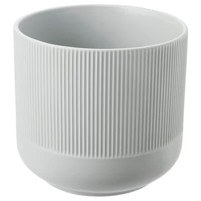 GRADVIS Cache-pot, gris, 15 cm