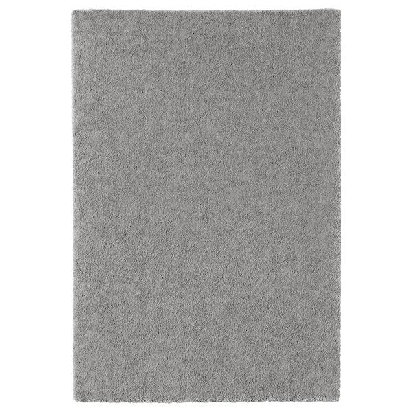 STOENSE Tapis, poils ras, gris moyen, 133x195 cm