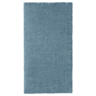 STOENSE Tapis, poils ras, bleu moyen, 80x150 cm