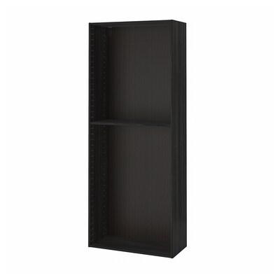 METOD Structure élément armoire, effet bois noir, 80x37x200 cm