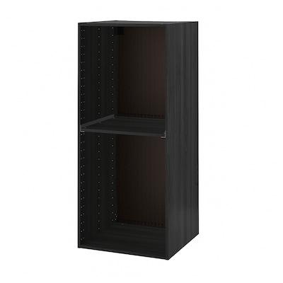 METOD Caisson arm réfrig/four, effet bois noir, 60x60x140 cm