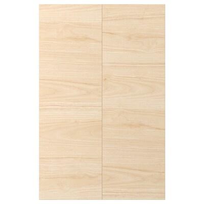 ASKERSUND Porte élément bas d'angle, 2pcs, effet frêne clair, 25x80 cm