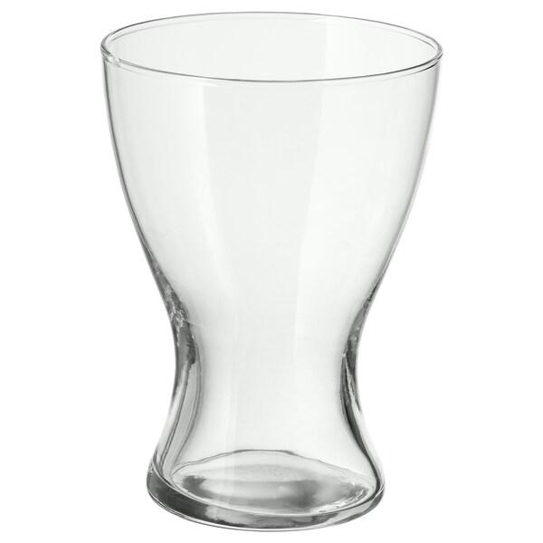 VASEN Vase, verre transparent, 20 cm