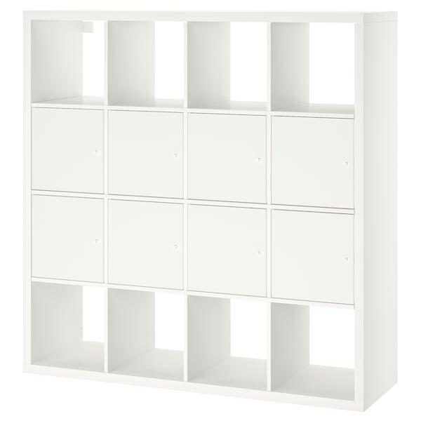 KALLAX Étagère avec 8 accessoires, blanc, 147x147 cm