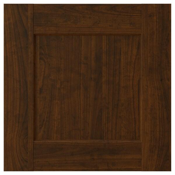 EDSERUM Porte, effet bois brun, 40x40 cm