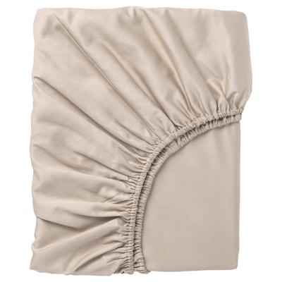 NATTJASMIN Drap housse, beige clair, 160x200 cm