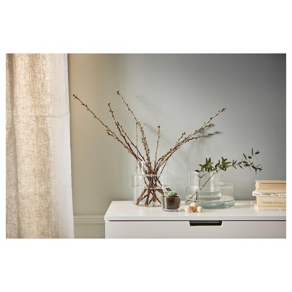 CYLINDER Vase/saladier, lot de 3, verre transparent