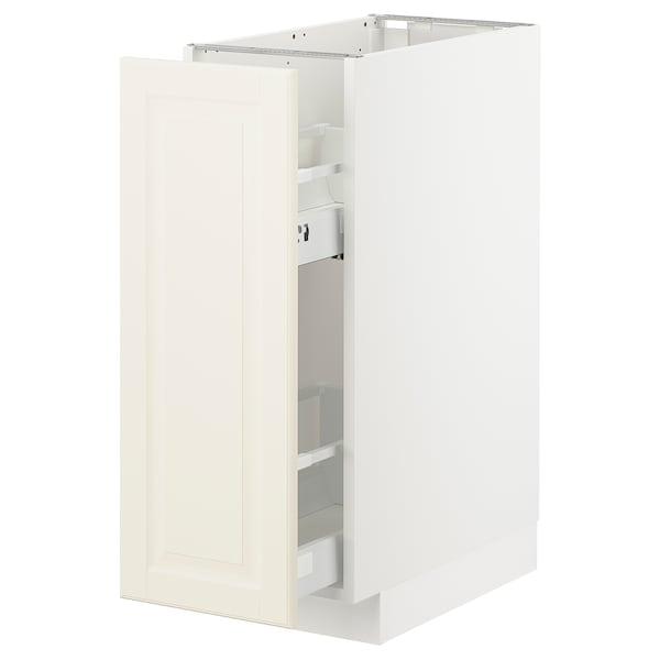 METOD Élément bas+rgts coulissants, blanc/Bodbyn blanc cassé, 30x60 cm