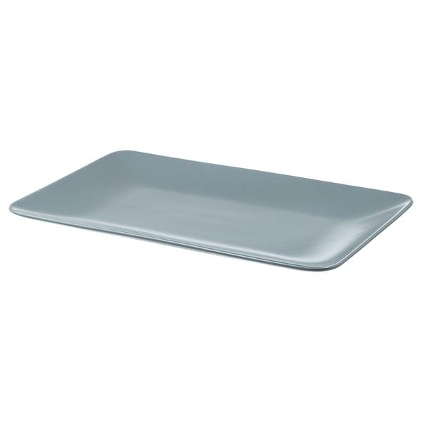 DINERA Assiette, bleu gris, 30x20 cm