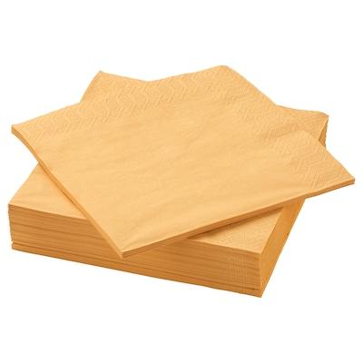 FANTASTISK Serviettes en papier, jaune, 40x40 cm
