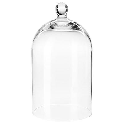 MORGONTIDIG Cloche en verre, verre transparent, 18 cm