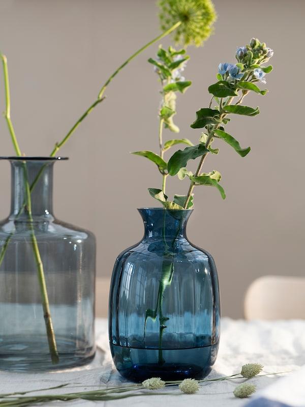 TONSÄTTA Vase, bleu, 21 cm
