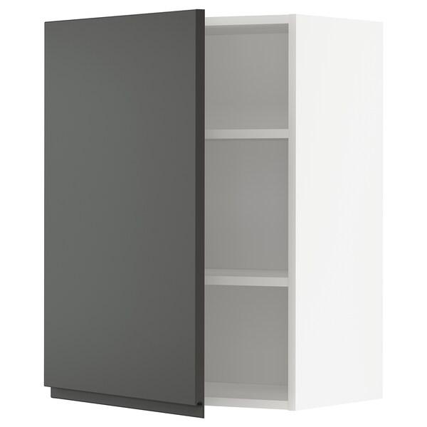 METOD Él mur+tabls, blanc/Voxtorp gris foncé, 60x80 cm