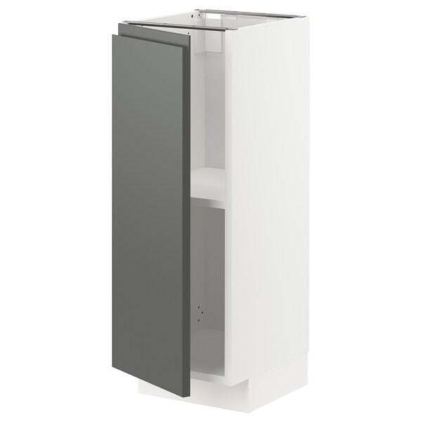 METOD Élément bas avec tablettes, blanc/Voxtorp gris foncé, 30x37 cm