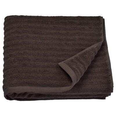FLODALEN Drap de bain, brun foncé, 70x140 cm