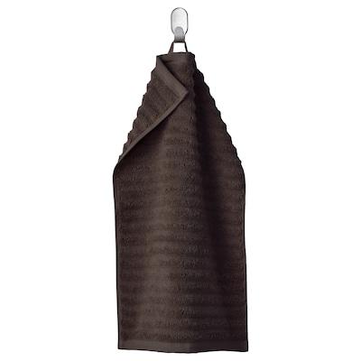 FLODALEN Essuie-main, brun foncé, 30x50 cm