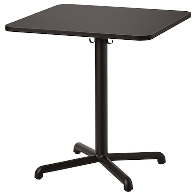STENSELE Table, anthracite/anthracite, 70x70 cm