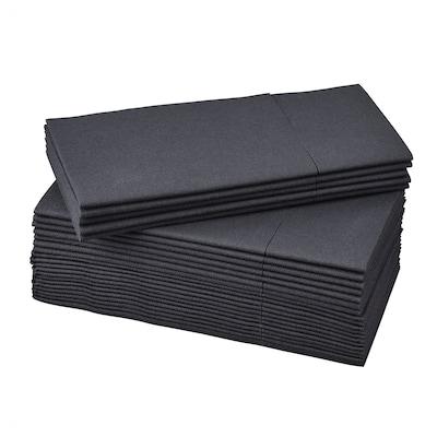 MOTTAGA Serviettes en papier, noir, 38x38 cm