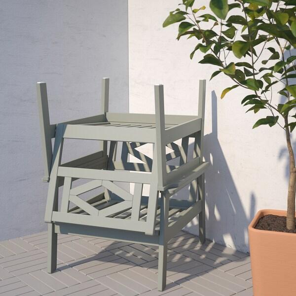 BONDHOLMEN Fauteuil, extérieur, teinté gris/Frösön/Duvholmen beige